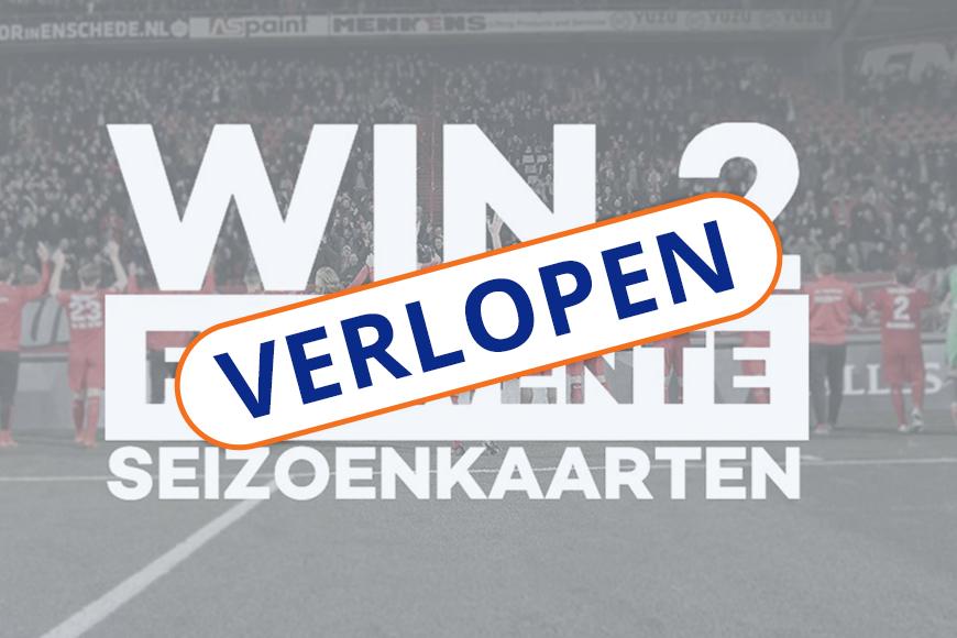 Win 2 seizoenkaarten voor FC Twente!